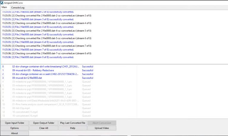 DVR Conv - Batch Processing